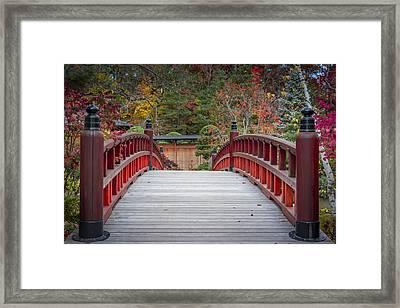 Japanese Bridge Framed Print by Sebastian Musial