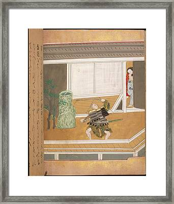 Japanese Warrior Framed Print by British Library