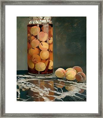 Jar Of Peaches Framed Print by Mountain Dreams