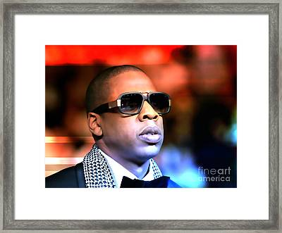 Jay Z Framed Print by Marvin Blaine
