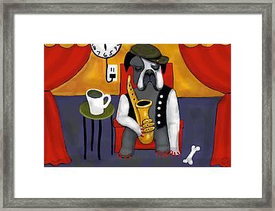 Jazz Dog Framed Print
