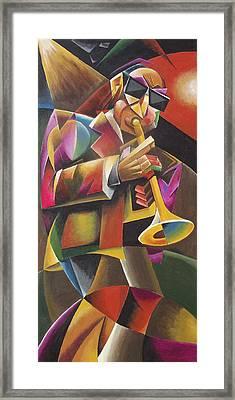 Jazz Horn Framed Print by Bob Gregory