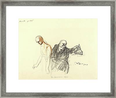 Jean-louis Forain Framed Print by Litz Collection