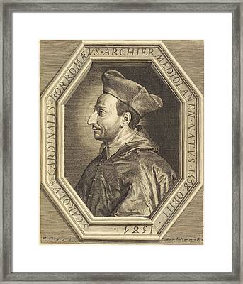 Jean Morin After Philippe De Champaigne French Framed Print by Quint Lox