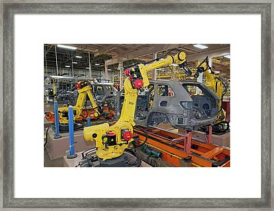 Jeep Grand Cherokee Assembly Line Framed Print by Jim West