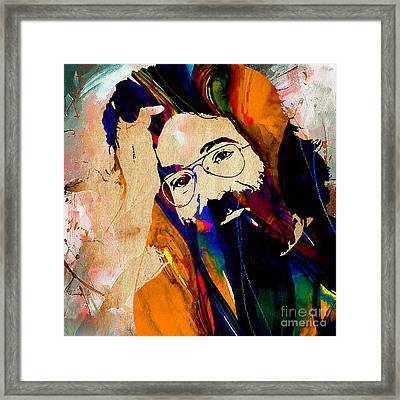 Jerry Garcia Framed Print by Marvin Blaine