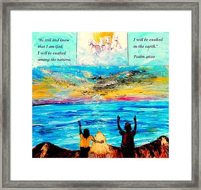 Jesus Loves You Framed Print