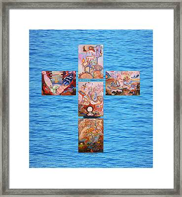 Jesus Of Advent B Y Framed Print by Aswell Rowe