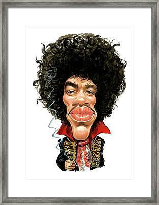 Jimi Hendrix Framed Print by Art
