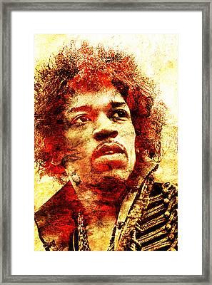 Jimi Hendrix Framed Print
