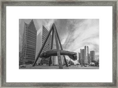 Joe Louis Fist In Detroit  Framed Print