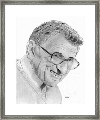 Joe Paterno Framed Print