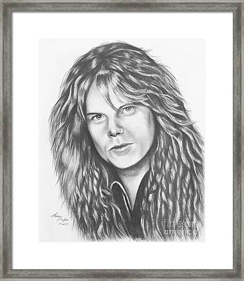 Joey Tempest Framed Print by Lena Auxier