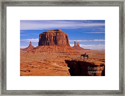John Ford Point Monument Valley Framed Print