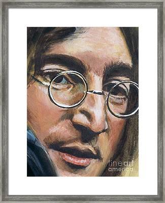 John Lennon Framed Print by Kean Butterfield