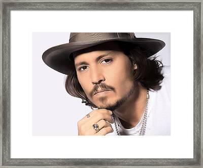 Framed Print featuring the photograph Johnny Depp by Karon Melillo DeVega