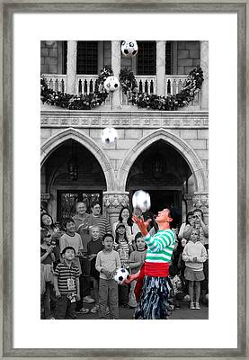 Juggler In Epcot Center Framed Print