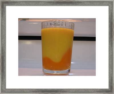 Juices Density Framed Print by Anais DelaVega