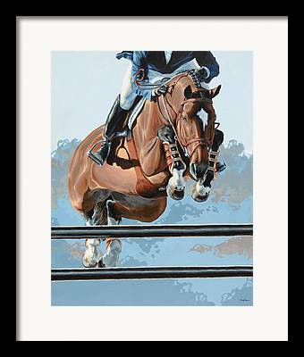 Show Jumping Framed Prints