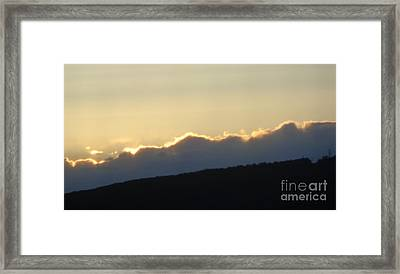 Framed Print featuring the photograph 2 - June Sunset 2 by Christina Verdgeline