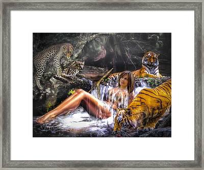Jungle Ginns Framed Print by Glenn Feron