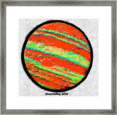Jupiter In Many Colors Framed Print