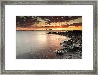 Jura Sunset Framed Print by Grant Glendinning