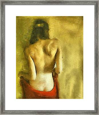 Just A Back Framed Print by Gun Legler