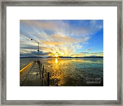 K Bay Sunrise Framed Print