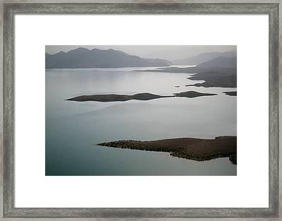 Kajaki Lake In Helmand Province Afghanistan Framed Print by Jetson Nguyen