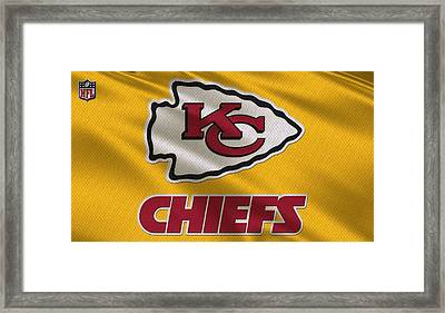 Kansas City Chiefs Uniform Framed Print