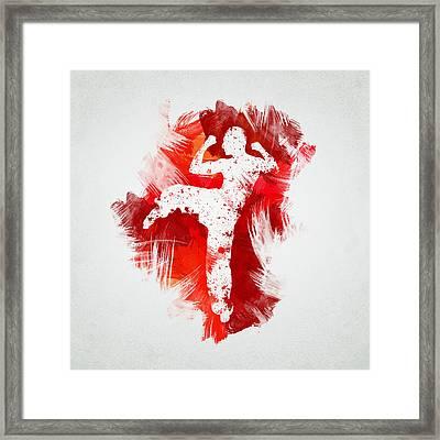 Karate Fighter Framed Print