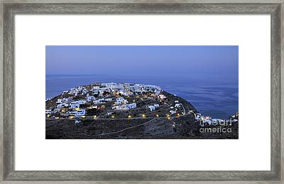 Kastro Village In Sifnos Island Framed Print