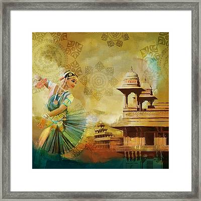 Kathak Dancer Framed Print by Catf