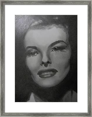 Kathryn Hepburn Framed Print
