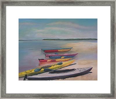 Kayaking Trip Framed Print