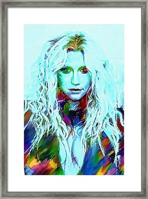 Kesha Framed Print