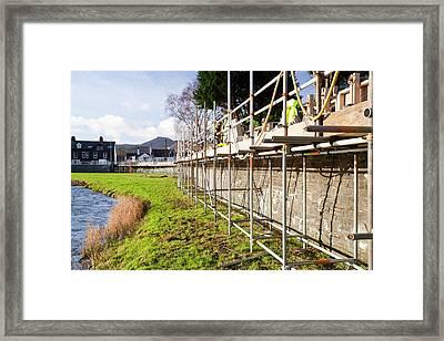 Keswick Flood Defences Framed Print by Ashley Cooper