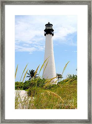 Key Biscayne Lighthouse Framed Print by Carey Chen