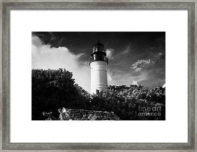Key West Lighthouse Florida Usa Framed Print by Joe Fox