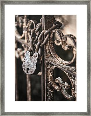 Keyless Framed Print by Caitlyn  Grasso