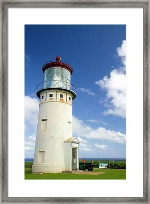 Kilauea Lighthouse Located On Kilauea Framed Print by David R. Frazier