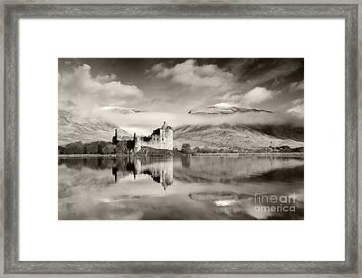 Kilchurn Castle Framed Print by Derek Croucher