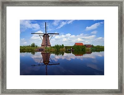 Kinderdijk Framed Print by Hugh Smith