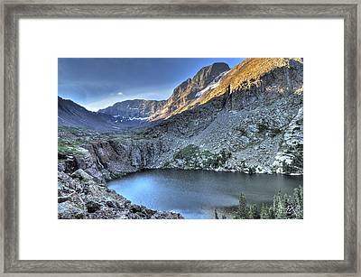 Kit Carson Peak And Willow Lake Framed Print by Aaron Spong