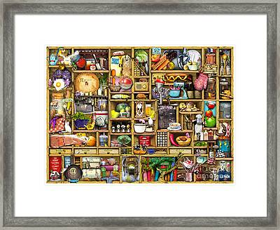 Kitchen Cupboard Framed Print by Colin Thompson