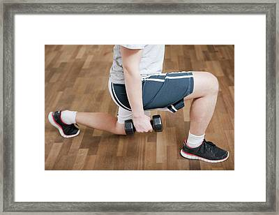 Knee Physiotherapy Framed Print by Thomas Fredberg