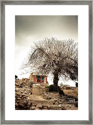 Knossos Archeological Site Framed Print