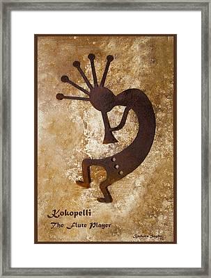 Kokopelli The Flute Player Framed Print
