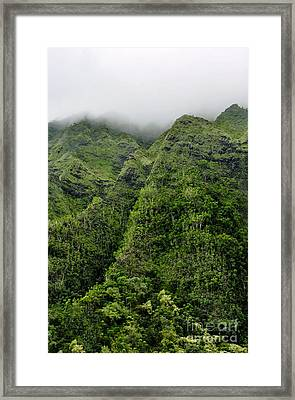 Framed Print featuring the photograph Ko'olau Mountain by Gina Savage
